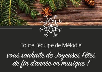 Joyeuses Fêtes en musique ! Fermeture hiver 2017