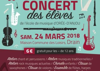 Concert des élèves, mars 2018