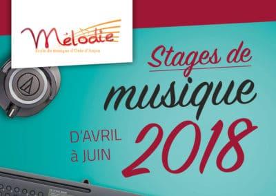 Stages de musique, d'avril à juin 2018