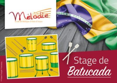 Stage de Batucada, octobre 2018