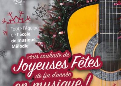 Joyeuses fêtes en musique ! Fermeture hiver 2018