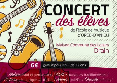 Concert des élèves, mars 2019