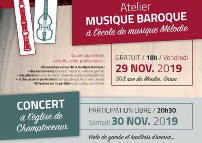 Musique baroque, novembre 2019