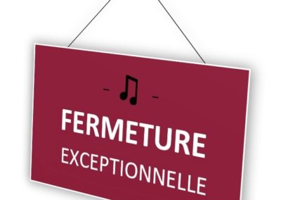 Fermeture suite 3e vague, avril 2021