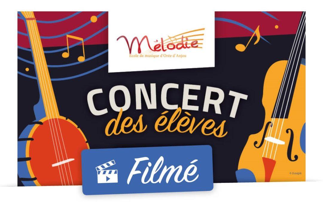 Concert des élèves filmé, avril 2021 – REPORTÉ
