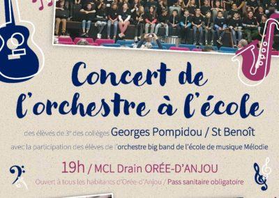 Concert OAE collèges, novembre 2021